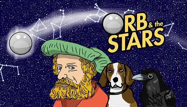 Orb & the Stars logo, showing characters from the game